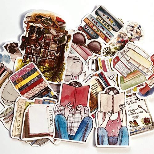 Juego de pegatinas para libros de Fengling para niñas, manualidades y álbumes de recortes, pegatinas para libros, etiquetas de estudiantes, pegatinas decorativas para niños, 20 unidades