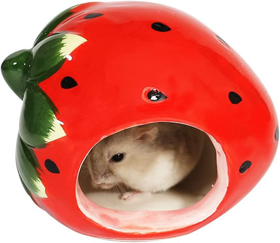 BTBT Ceramic Hamster Mini House for Animal Suitab Hideout gift Max 49% OFF Small