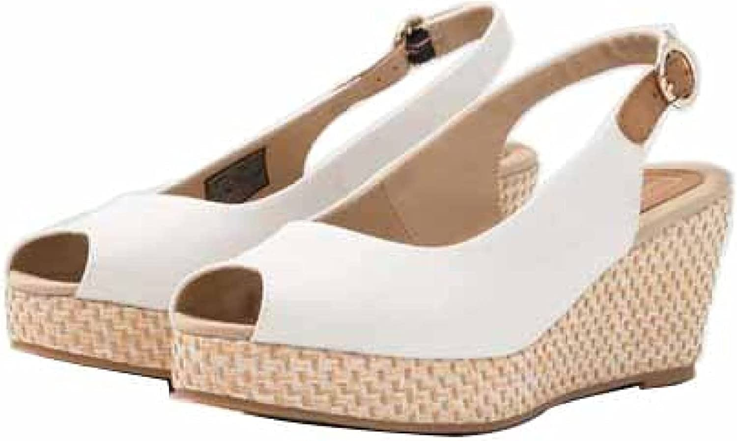 Wedge Sandals for Womens Outdoor Peep Toe with Ankle Buckle Strap Dress Shoe