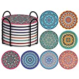 Tifanso Set of 8 Coasters for Drinks Absorbent,...