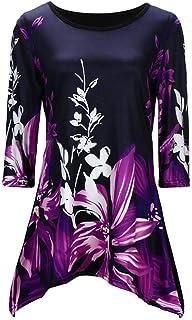 Frieed Womens Top Semi-Sleeved Print Casual Stylish T-Shirt Tee