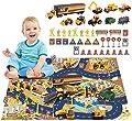 1.Set da gioco per giocattoli da costruzione (44 PC): include camion, bulldozer, rullo compressore, escavatore, autocarro con cassone ribaltabile, trattore, carrello elevatore, blocchi stradali e così via. I tuoi bambini si divertiranno a costruire i...