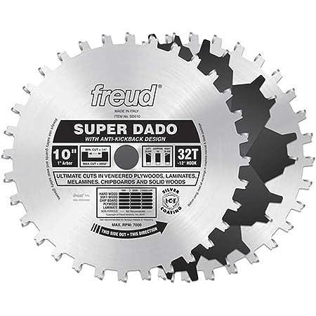 "Dado Set Amana 651030-1 Carbide Tipped Dado 10/"" D x 24T ATB//FT 10 Deg 1/"" Bore"