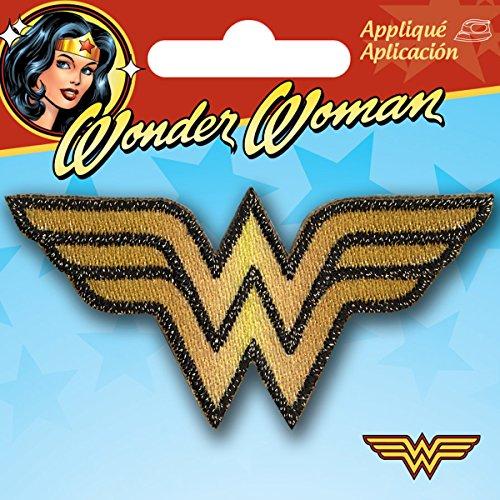 Simplicity Wonder Woman Logo para Planchar Applique, poliéster, 8.05X 0,2x 7.59cm