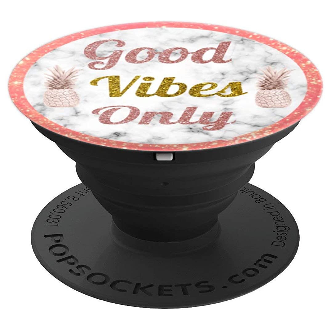 Good Vibes Only Rose Gold Pineapple Pop Socket - PopSockets Grip and Stand for Phones and Tablets
