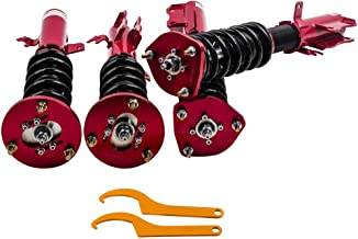 24 Ways Adj. Damper Coilovers Shocks for Lexus ES300 92-01 for Toyota Camry 92-01/Avalon 95-03/Solara 99-03 Racing Susppensions Struts Adj Height - Red