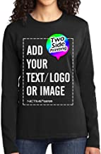 Custom Womens T Shirts Design Your Own Photo or Text Personalized Ladies Top Tee