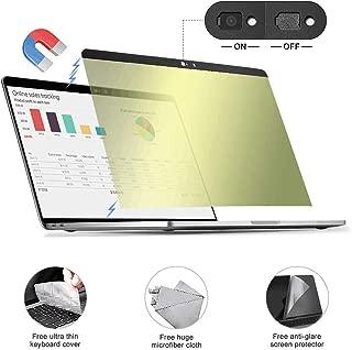 Gold MacBook pro Privacy Screen Protector Filter【Magnetic Installation】【Webcam Cover】【 Anti-Glare Screen Protector 】【TPU Keyboard Cover (Gold MacBook pro 13.3 (2016~2019) Privacy Screen)