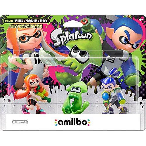 Amiibo Splatoon 3 Pack Inkling Girl, Boy E Squid