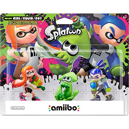 Amiibo - Splatoon Collection Triple Pack: Inkling-Mädchen / Girl, Inkling-Junge / Boy & Inkling-Squid