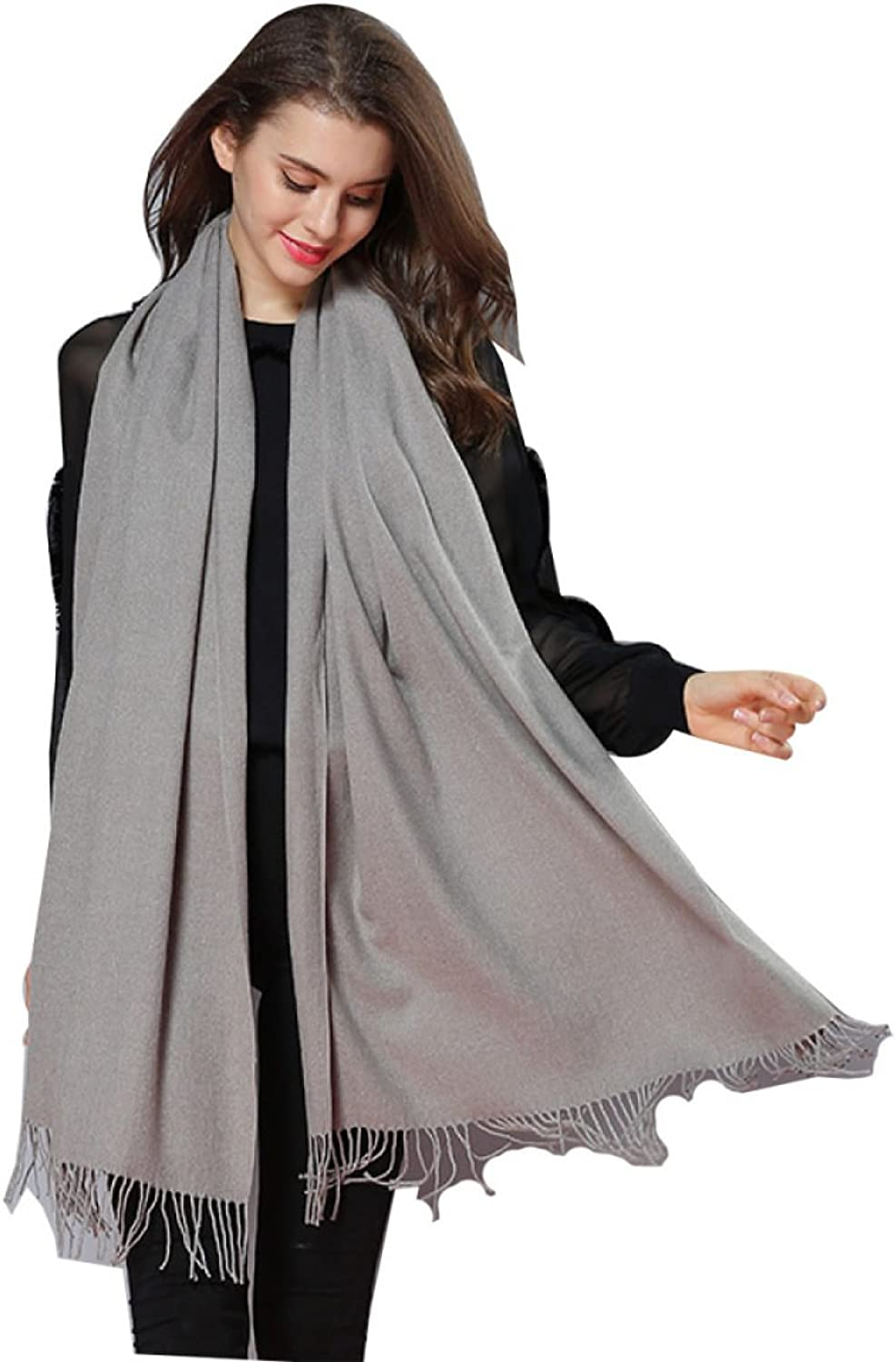 2017 Autumn And Winter New Scarf Woman Thicker Long Section Solid color Warm Big Shawl,8OneSize