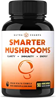 Mushroom Supplement - Lions Mane & Cordyceps Complex with Reishi & More - Immune System Booster & Nootropic Brain Support ...