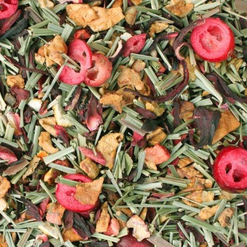 Früchtetee lose Sylter Leuchte Apfel, Hibiskus, Zitronengras, Orangen, Cranberries, Erdbeer Früchte Tee Zitrus-Beerenfrucht 100g