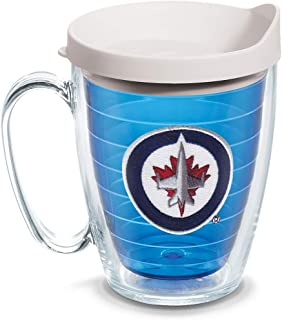 Tervis 1130458 NHL Winnipeg Jets Primary Logo Tumbler with Emblem and White Lid 16oz Mug, Blue