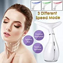 NOLLY Skin Tightening Machine Face Neck Care Massager 3 Modes Anti Wrinkle Removal Massager For Wrinkle Treatment And Double Chin Reduceri OEUSB Rechargeable Estimated Price : £ 38,99