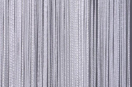 arsuita Fadenvorhang BxH 90 x 250cm | Fadenstore: weiß mit Tunneldurchzug in der Höhe kürzbar