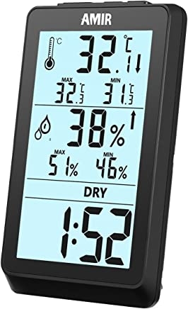 Instrument de pr/écision DeliaWinterfel Thermo hygrom/ètre Analogique Int/érieur Maison Ext/érieur Humidit/é by Double Fonction