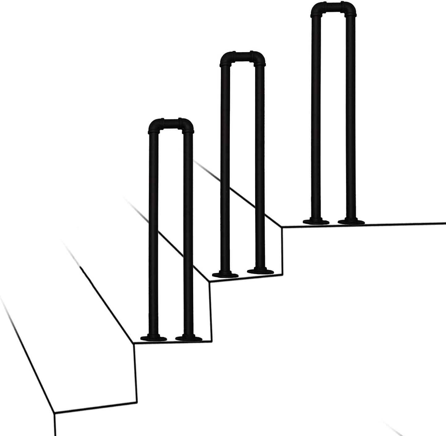 Max 43% OFF Outdoor Garden Max 49% OFF Staircase Handrails Wrought U-Type Railings Iron