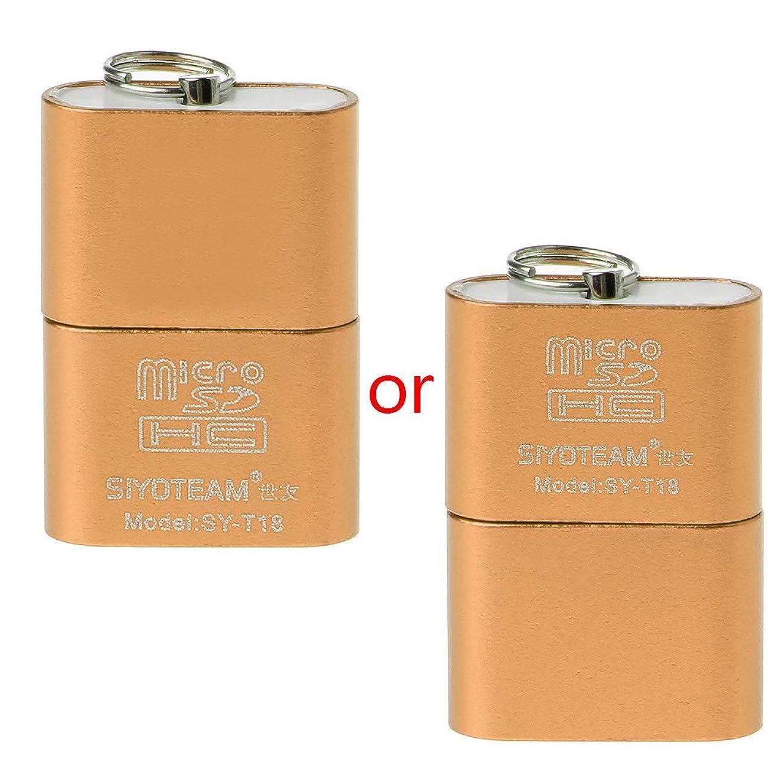 Rabortw 良い品質ポータブルミニアルミ合金USB 2.0 AマイクロSD TFメモリカードリーダーアダプター