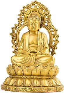 Buddha Figure Sakyamuni, Brass Statue, Contemporary Bronze Statue, Figurines, Religious Needs, Study Desktop Decoration, P...