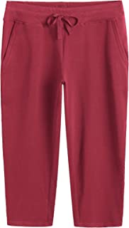 Women's Cotton Capri Pants with Pockets
