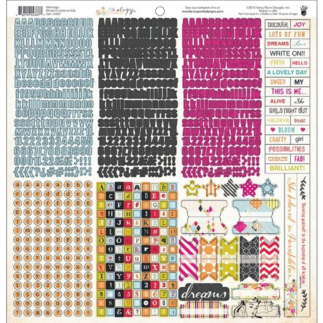 Fancy Pants Me.ology Cardstock Stickers, 12-Inch by 12-Inch, Fundamentals