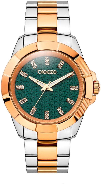 Breeze 210531.2 Womens Quartz Star-Blazed IP Gold Black