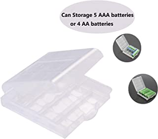 Cotchear AA/AAA/14500/10440 Battery Storage Container Battery Holder Plastic Battery Storage Case Box Carrying Box