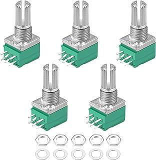 uxcell Potentiometer B10K Ohm Variable Resistors Double Turn Rotary Carbon Film Taper RV097NS 5pcs
