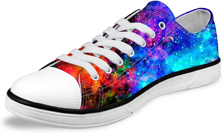 Freewander 3D Galaxy Print Low Top Sneaker shoes for Teens