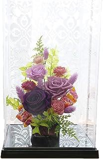 サウンドアレンジ 神楽箱 (紫紺花) プリザーブドフラワー 敬老の日 プレゼント 花 ギフト ケース