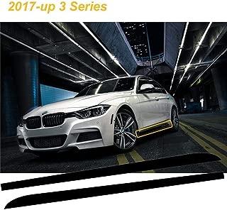 Car Side Skirt Sticker - Xotic Tech M Performance Door Sill Stripe Decal fit BMW 3 Series 2017-up F30 F31 F34-2pcs Matte Black