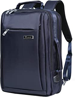 NZII 拡張可能 ビジネスリュック 大容量 バックパック USB充電ポート リュックサック 2 WAY 通勤 多機能 旅行 通学 男女 防震 耐摩耗性 リュック 15.6 inchのpcに対応 ダブレット (8111 ブルー)