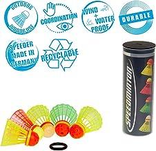 Speedminton Mix 5pk Speeder Tube - incl. 5 different Birdies for Speed Badminton/ Crossminton for Outdoor Games (SM03-100-5)