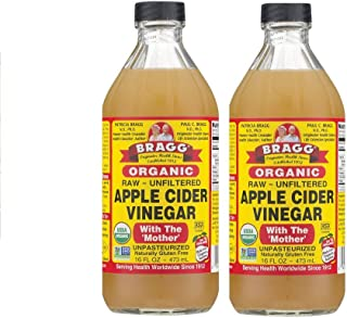 Bragg Organic Unfiltered Apple Cider Vinegar, Raw, 16 Ounce