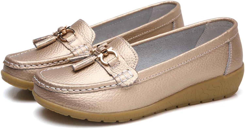 T T T -JULY Springaa kvinnor Genuine läder skor Casual Ladies skor Ballet Flats Loafers  noll vinst