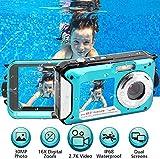 Unterwasserkamera 2.7K Full HD 48.0 MP Kamera Unterwasserkamera Digitalkamera Videorecorder Camcorder Selfie Dual