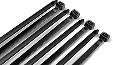 WISLIGHT Nylon Cable Ties 100 pcs 10 Inch Assorted Self-Locking Multi-Purpose Nylon Zip Cable Ties Cord Wire Cable Tie Management, Assortment Black (Combo Pack)