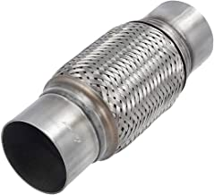 """Upower 3 Inch Diameter Exhaust Flex Extension Pipe Connector Tube, 4""""+6"""" 10""""OAL Heavy Duty Stainless Steel"""