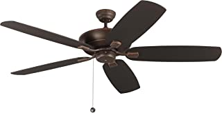 Monte Carlo 5CSM60RB Colony Super Max Dual Mount 60'' Outdoor Ceiling Fan with Pull Chain, 5 Blades, Roman Bronze