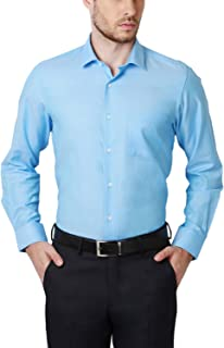 Peter England Men's Solid Regular Fit Cotton Formal Shirt