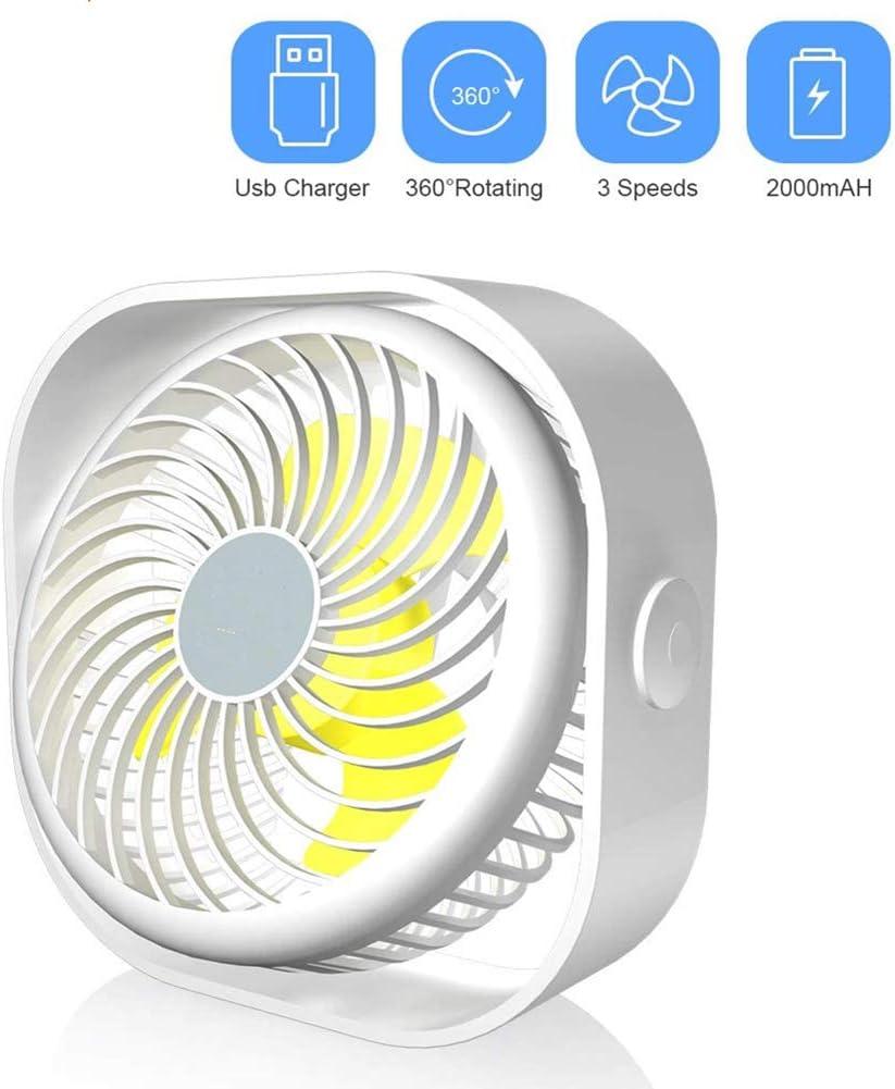 YYYUE Portable Cooling Mini USB Fan 360 Be super welcome 3 Sacramento Mall Speed Rotation Degree