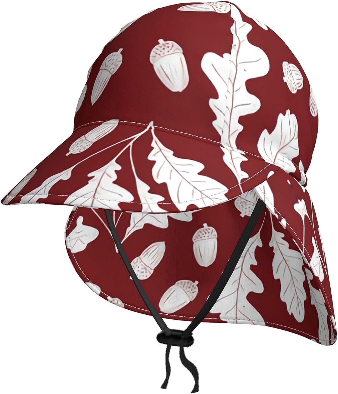 Forest Oak Leaf Indefinitely and Acorn deep Toddler red Hat Baby Sun Dark Indefinitely