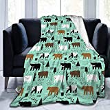 alice-shop Cute Bears Childish Ultra-Soft Cozy Micro Fleece Blanket, Ideal para Viajes de Oficina en dormitorios
