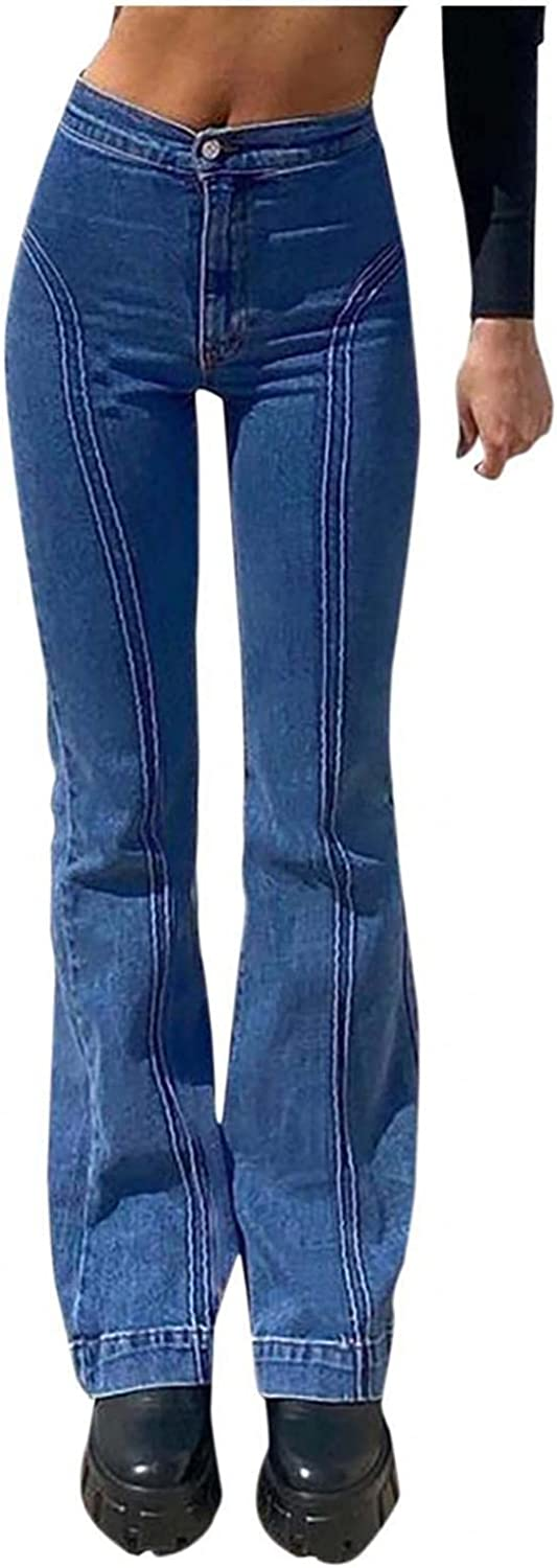 Y2K Fashion Jeans for Women High Waisted Loose Pants Trousers Wide Leg Denim Jeans Streetwear Straight Fit Jeans