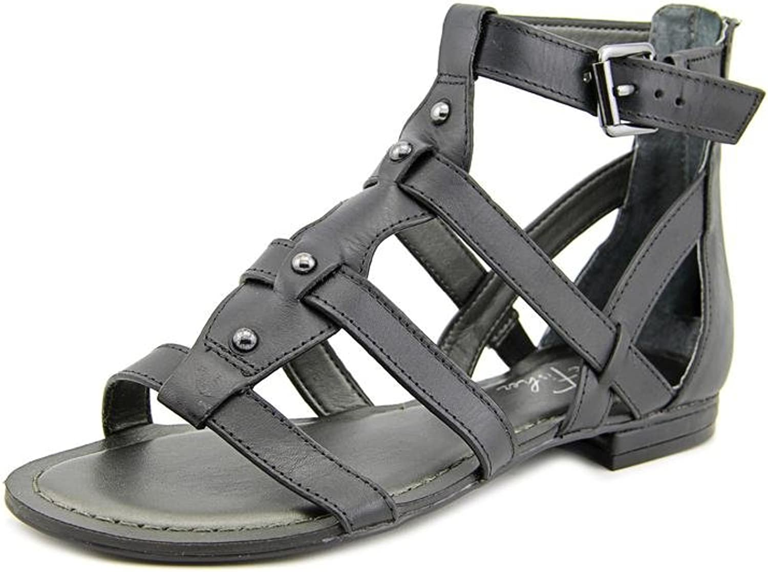 Marc Fisher Women's Brandi Black Leather Strappy Sandals 7 M Us