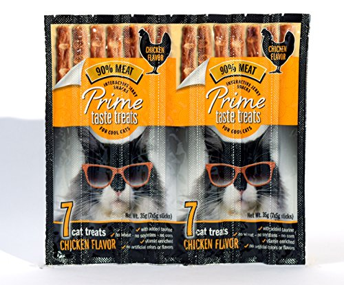 Prime Taste Treats Chicken Jerky Treat For Cats, 35G