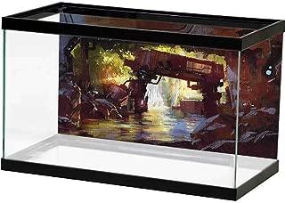 SLLART Underwater Poster Industrial,Machine Forest Fish Tank Background Decor