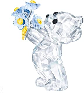 SWAROVSKI Kris Bear - Forget-Me-Not Figurine, Crystal, Multicoloured Light 4.5 x 2.6 x 3.7 cm