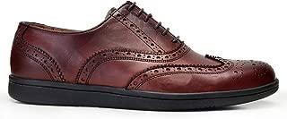 062-902 VIB-Antik Kahve 202 Nevzat Onay Bağcıklı Kahverengi Deri Kösele Erkek Ayakkabı
